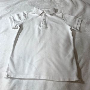 Zara Boys Collection White Pique Polo Shirt 6